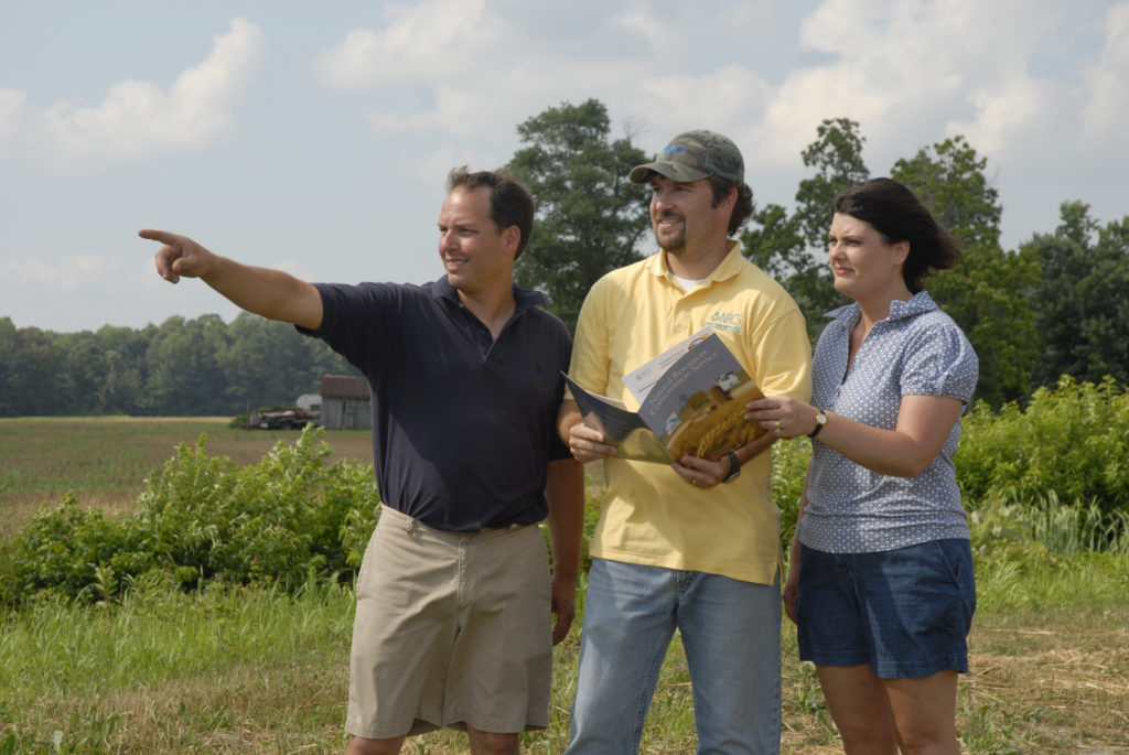 Natural Resources Conservation Service water conservation practices on local farms in Delaware